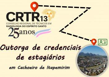 Outorga de credenciais  de estagiários em Cachoeiro de Itapemirim
