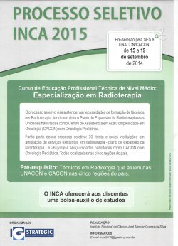 Processo Seletivo INCA 2015