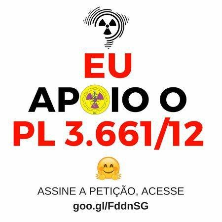 Eu apoio o PL n.º 3.661/12 da Radiologia