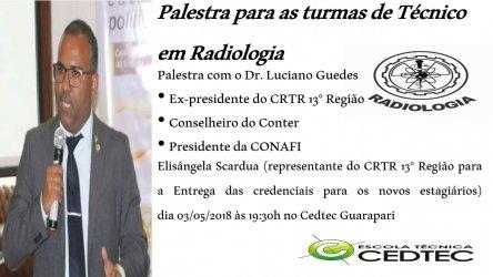 Palestra para as turmas de Técnicos em Radiologia na Cedtec em Guarapari