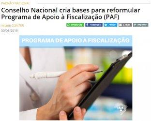 Conselho Nacional cria bases para reformular Programa de Apoio à Fiscalização (PAF)