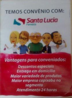Convênio Rede de Farmácias Santa Lucia