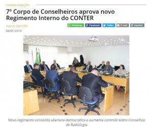7º Corpo de Conselheiros aprova novo Regimento Interno do CONTER