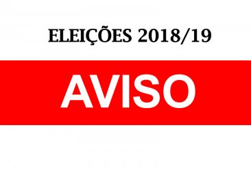 AVISO - ELEIÇÕES